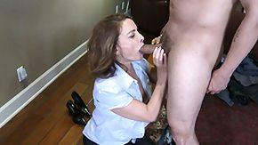 Rebecca Bardoux, Blowjob, Brunette, Cumshot, Leggings, Mature