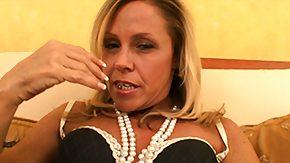Blonde Cougar, Blonde, Blowjob, Boobs, Cougar, Fingering