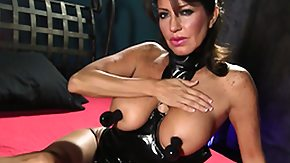 Latex, Big Pussy, Big Tits, Boobs, Brunette, Cougar