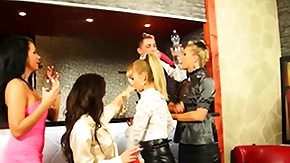 Golden Shower, Blonde, Blowjob, Brunette, Dominatrix, Femdom
