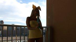 Balcony, Balcony, Blonde, Cute, Fetish, Outdoor
