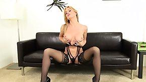 Angela Sommers, Babe, Blonde, Lingerie, Masturbation, Mature