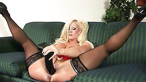 Nylon, Babe, Big Tits, Blonde, Masturbation, Nylon