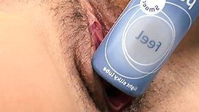 Bottle HD porn tube She's so horney that this cutie even fucks herself with the lube bottle