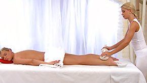 Lesbian Massage, Blonde, High Definition, Horny, Lesbian, Massage