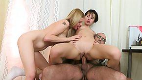 Daddy, 3some, Blonde, Blowjob, Brunette, Dad