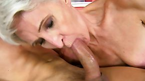 Grandma, Blonde, Blowjob, Cumshot, Drilled, Experienced