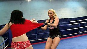Fight, Babe, BBW, Big Tits, Bitch, Blonde