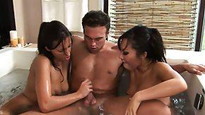 Massag, 3some, Amateur, Babe, Brunette, Group