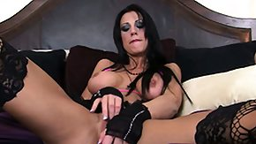 Stockings, Big Tits, Boobs, Brunette, Fingering, Goth