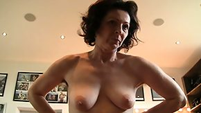 Saggy Tits, Amateur, Blowjob, Boobs, Brunette, Bush