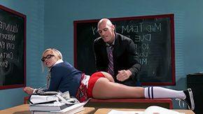 Spank Schoolgirl, Assfucking, Blonde, Blowjob, Coed, Fucking