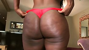 Free Chanel Staxxx HD porn Big ass ebony Chanel Staxxx gets undressed and shows her plump ass