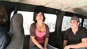 Bus, Amateur, Babe, Brunette, Bus, Group
