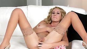 Nylon, Big Pussy, Big Tits, Blonde, Boobs, Dildo