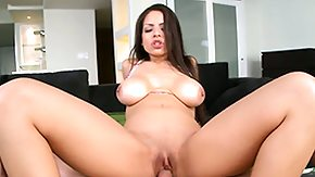 Bouncing Tits, Big Cock, Big Tits, Boobs, Brunette, Creampie