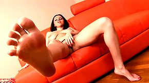 Russian Fetish High Definition sex Movies Slim brunette broad shows off her feet while fingering herself