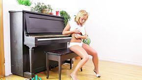 Piano, Big Natural Tits, Big Tits, Blonde, Boobs, Fingering