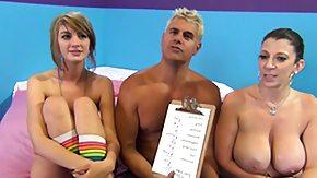 Sara Jay, Blonde, Blowjob, Brunette, Cumshot, Female Ejaculation