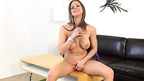 Rachel Roxx, Brunette, Desk, Masturbation, Sofa, Solo