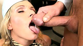 Stewardess, Blonde, Blowjob, Cumshot, Stewardess, Sucking