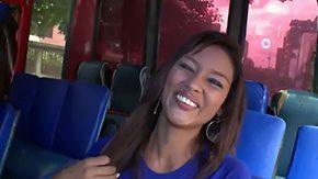 Liz Paola, Ass, Boobs, Brunette, Bus, Car