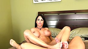 Jewel, Big Tits, Boobs, Brunette, Cumshot, Footjob