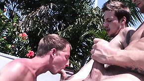 Hayden, Luke, and Mark have a wicked time in hot tub, afterward