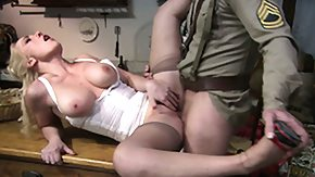 Military, Army, Blonde, Blowjob, Cumshot, Hardcore