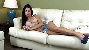 Nina James, Brunette, Cute, Masturbation, Pretty, Solo