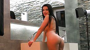 Body Painting, Babe, Big Tits, Boobs, Brunette, Masturbation