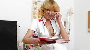 Granny, Blonde, Gaping, Granny, Nurse, Pussy