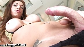Shemale HD Sex Tube curved cock TV @ house of she-males #11