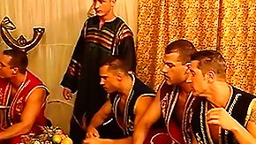 Free Harem HD porn videos Muscular dudes get prepared to entertain the owner of this male harem