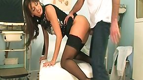 Doctor, Bend Over, Big Tits, Boobs, Brunette, Cowgirl