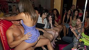 Party Club, Bend Over, Blowjob, Brunette, Club, Dance