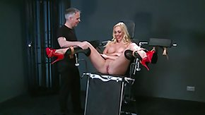 Dungeon, BDSM, Blonde, Female Ejaculation, Maledom, Squirt