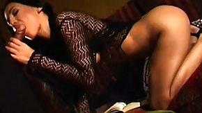 HD Mya Diamond Sex Tube Hot brownish hair Mya Diamond eats weenie and gets on to ride it on him