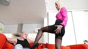 Surprise, Blonde, Deepthroat, MILF, Skirt, Stockings