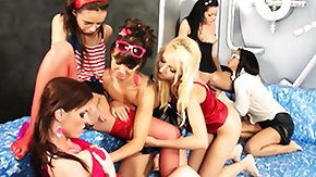 Muff Diving, Babe, Fetish, Group, High Definition, Lesbian