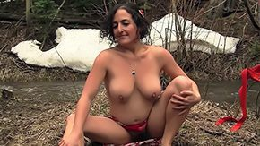Hippy HD tube Hippy Mamma Begins Dancing After Big O Aged hottie Simona hikes up her kilt masturbating outside in snow that babe has biggest big